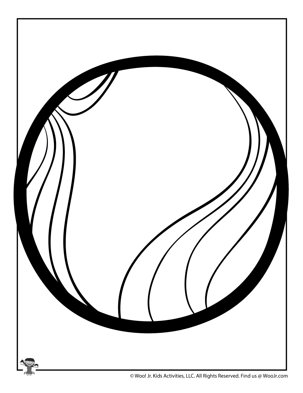 Venus Planet Coloring Page | Woo! Jr. Kids Activities