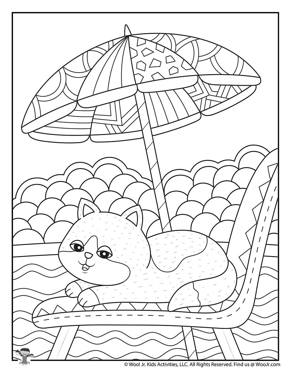 Cute Summer Adult Coloring | Woo! Jr. Kids Activities